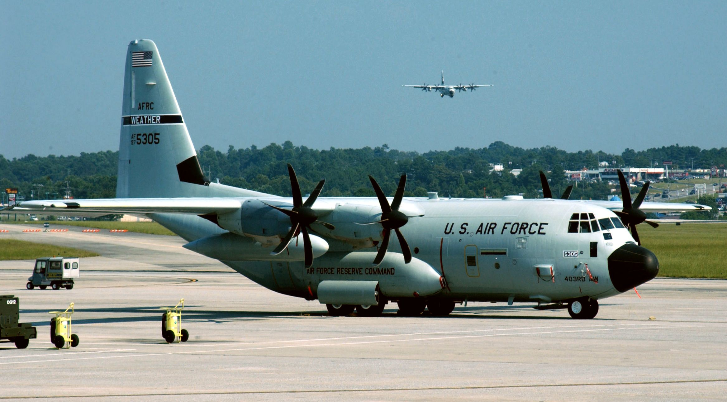 Lockheed Martin WC130J weather monitoring aircraft