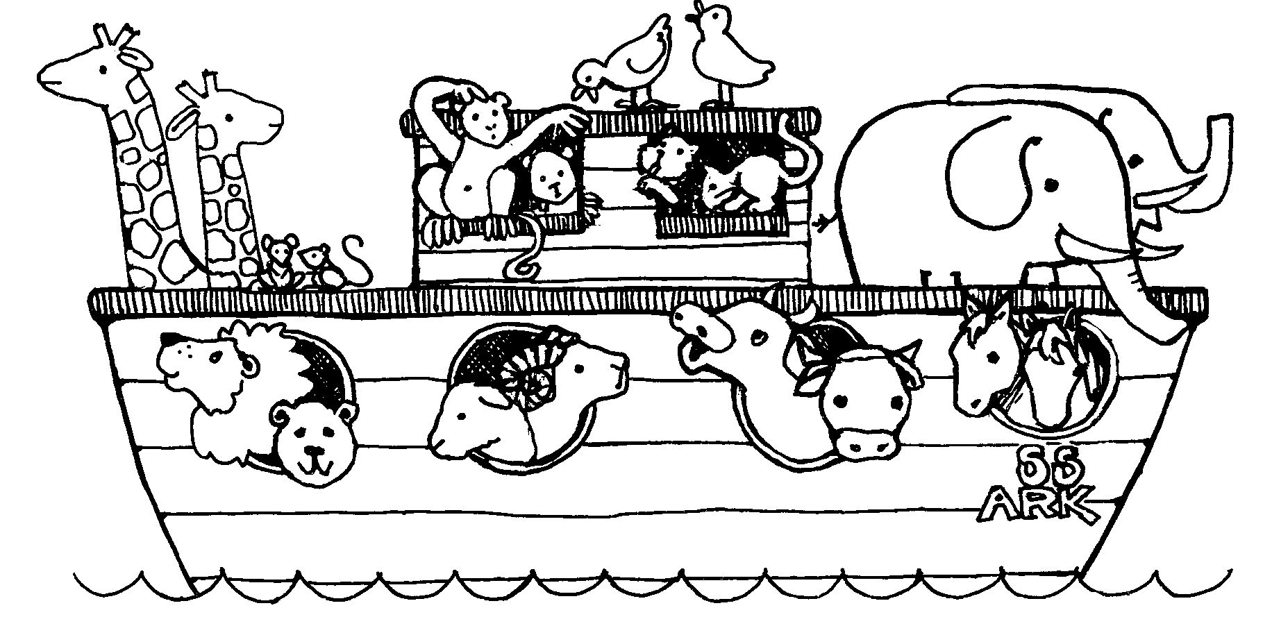 noah\'s ark coloring page 02 | Preschool coloring pages ...