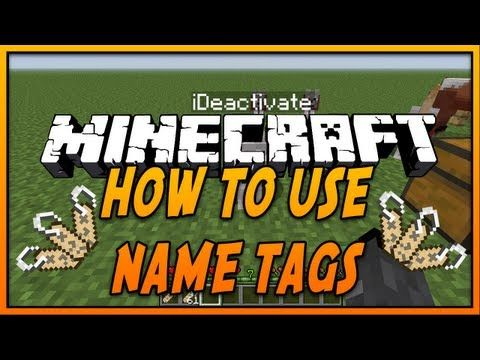 How To Use Name Tags In Minecraft Youtube Name Tags Names