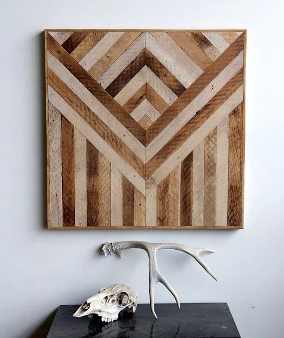 paneles de madera geomtricos para decorar paredes