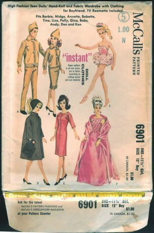Free Copy of Pattern - McCalls 6901 | Barbie Patterns - McCall\'s ...