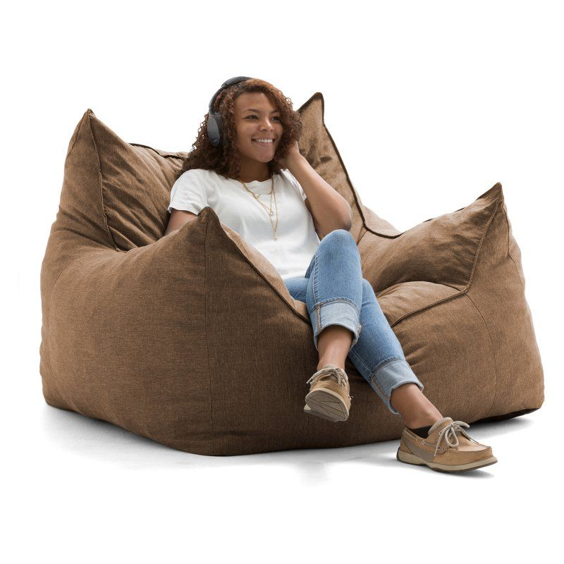 Lux By Joe Imperial Lounger Union Bean Bag Pecan 551476