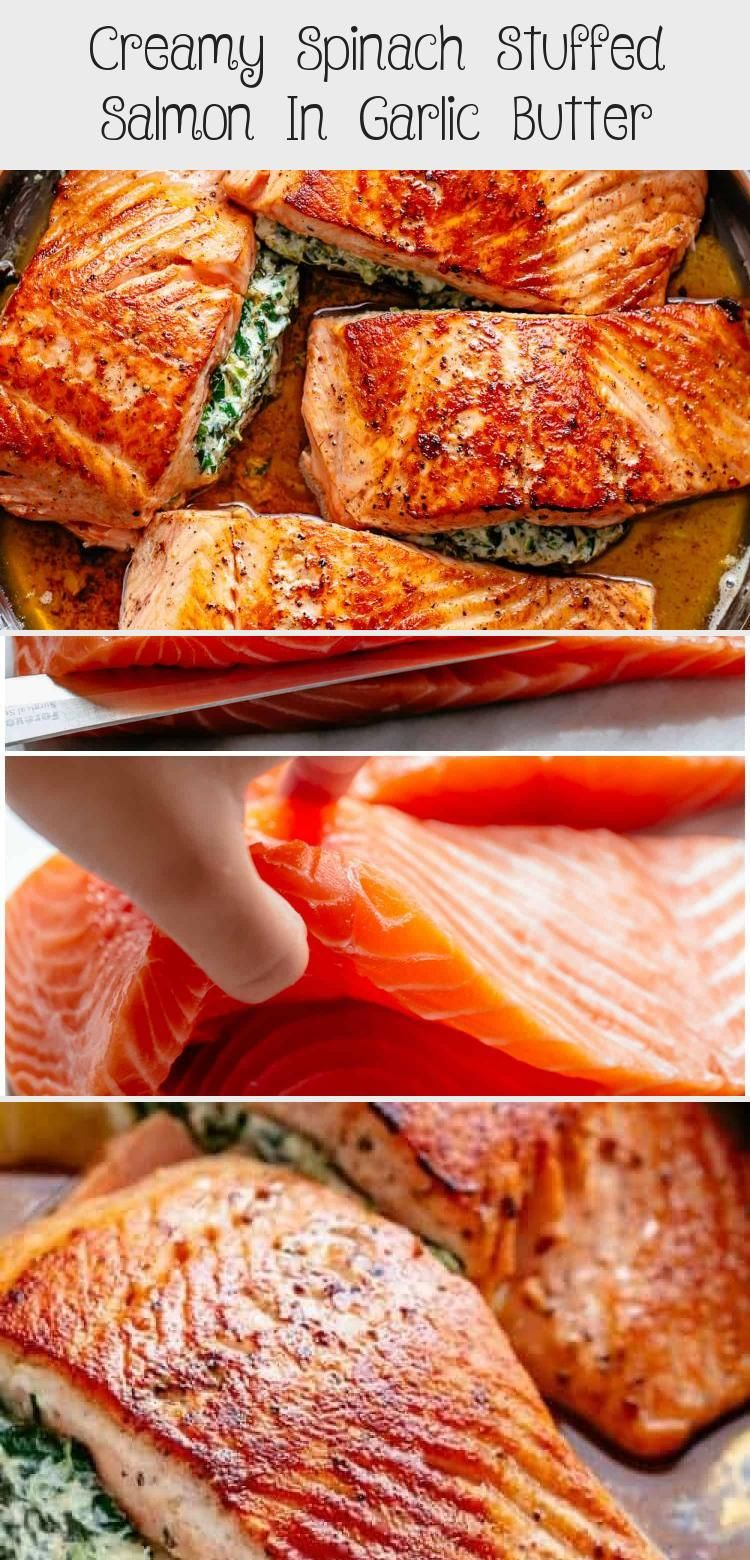 Photo of Creamy Spinach Stuffed Salmon in garlic butter is a new delicious way to enjoy s…
