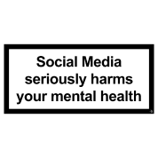 Social media harms mental health