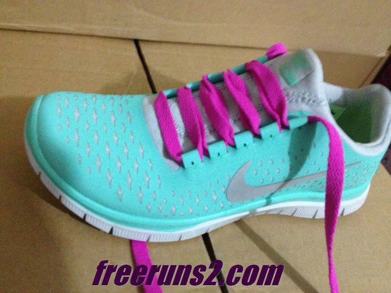 36ddb4a34139 Mens Nike Free 3.0 V4 Tropical Twist Reflective Silver Pro Platinum Rose  Lace Tiffany Blue Nike