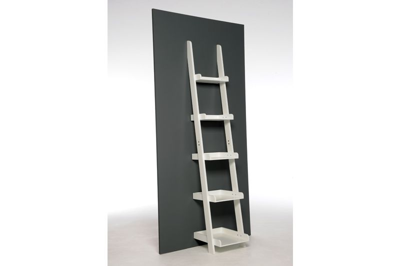 brand new f64a4 7d9f2 Grey Painted MDF Narrow Ladder Shelves | Futon Company ...