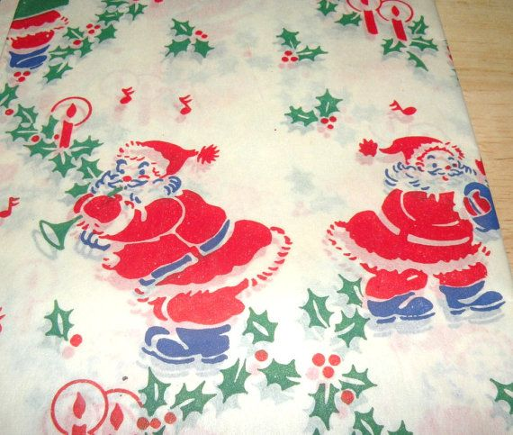 1950s Three sheets CHRISTMAS Wrapping Paper by Klassyglassandmore, $9.50