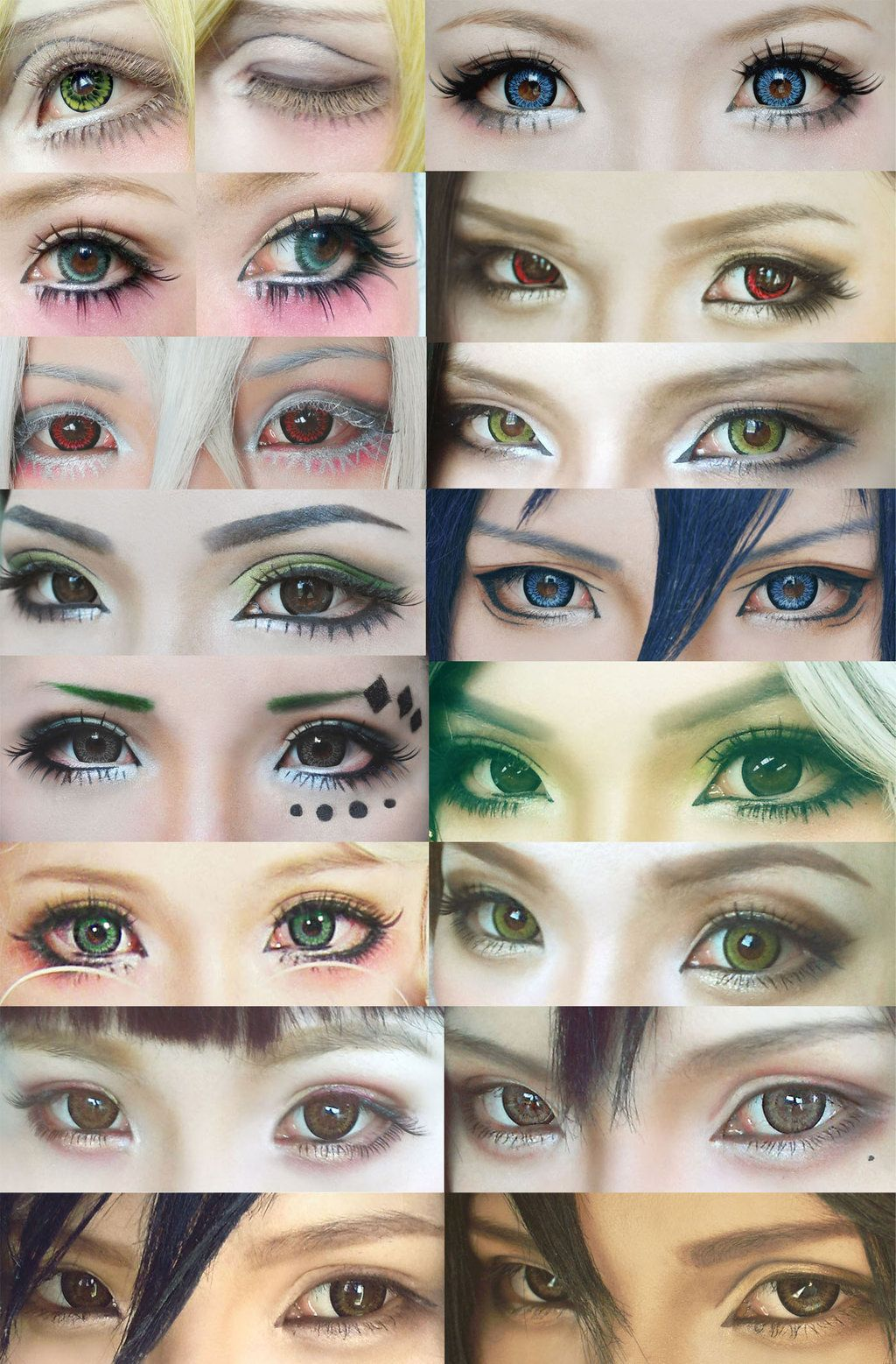 Cosplay Eyes Make Up Collection 4 By Mollyeberwein On Deviantart Anime Eye Makeup Anime Cosplay Makeup Anime Makeup