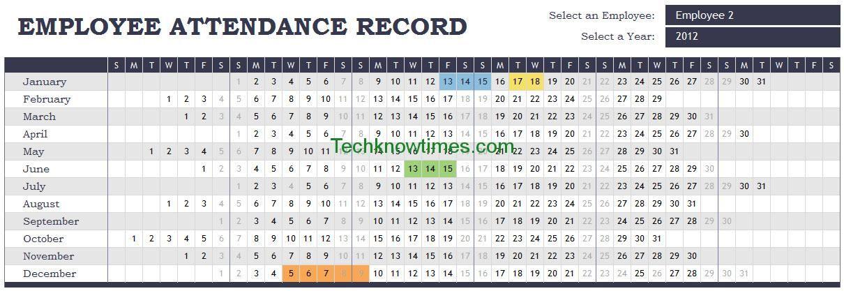 Attendance Tracker Excel Template Spreadsheet attendance - attendance spreadsheet template