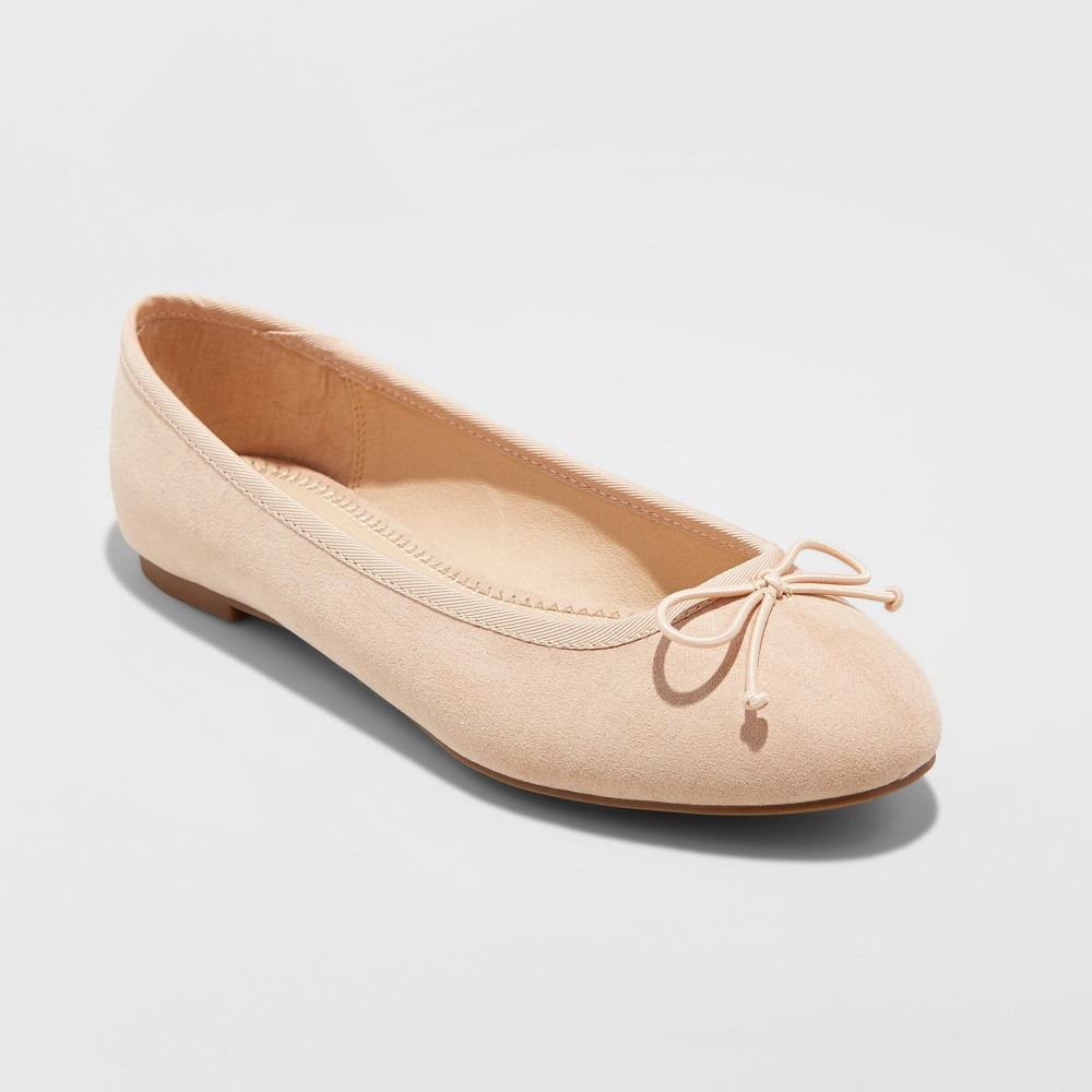8735b415880 Women s Wide Width Hope Elastic Band Round Toe Mary Jane Ballet Flats - A  New Day Honey Beige 9.5W