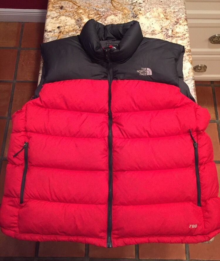... ireland the north face mens black red nuptse 700 down vest extra extra  large xxl 2xl 0b38b29fe