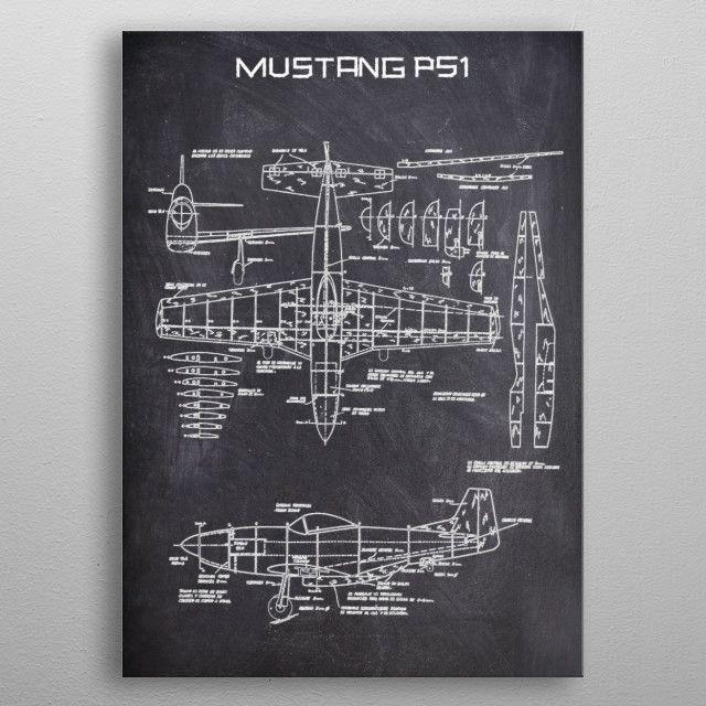 MUSTANG P51 by FARKI15 DESIGN | metal posters - Displate | Displate thumbnail