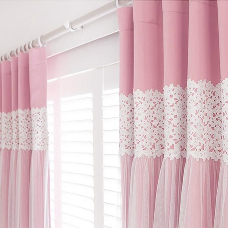 Princess Girls Room Valance Cutains Amazom: 2XCustom Kids Girl Princess Solid Pink Blockout Blackout
