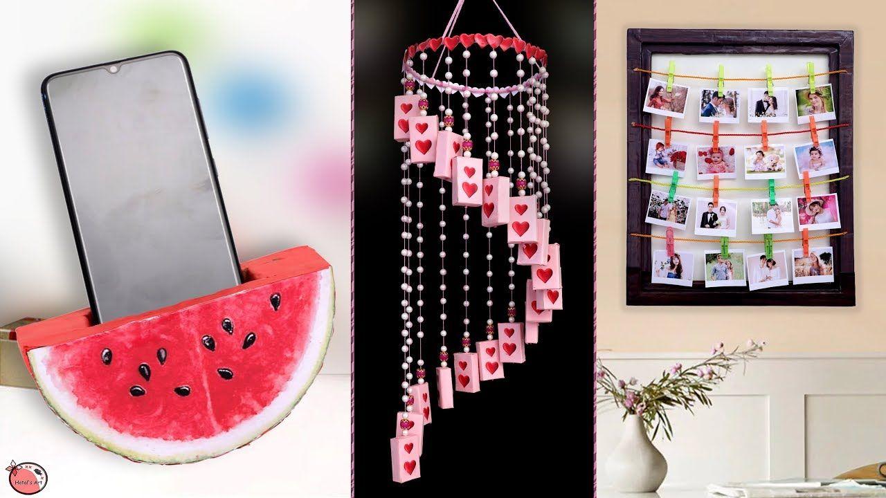 New 8 Diy Room Decor 2019 Diy Handmade Things Wall Hanging Photoframe Youtube Easy Diy Art Room Diy Diy Handmade