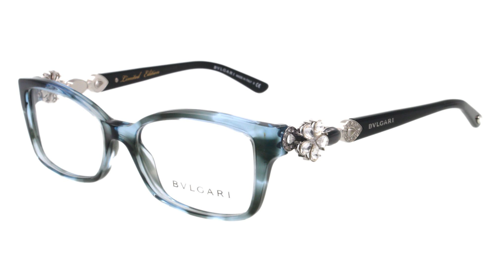 3d9596d74c Details about NEW Bvlgari Eyeglasses BV 4058B BLACK 5220 BV4058 53MM ...