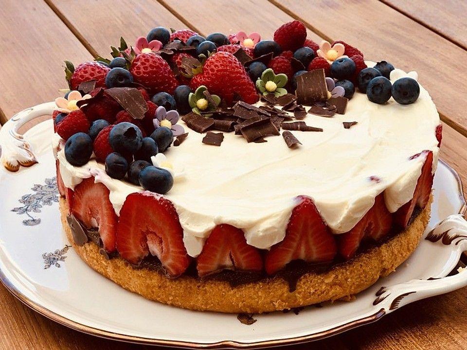 Erdbeer-Mascarpone-Torte von MaikäferSilke | Chefkoch