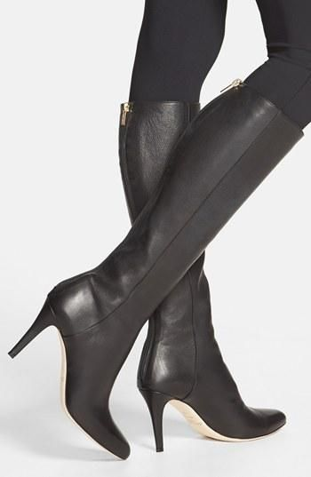 black leather boot by Jimmy Choo