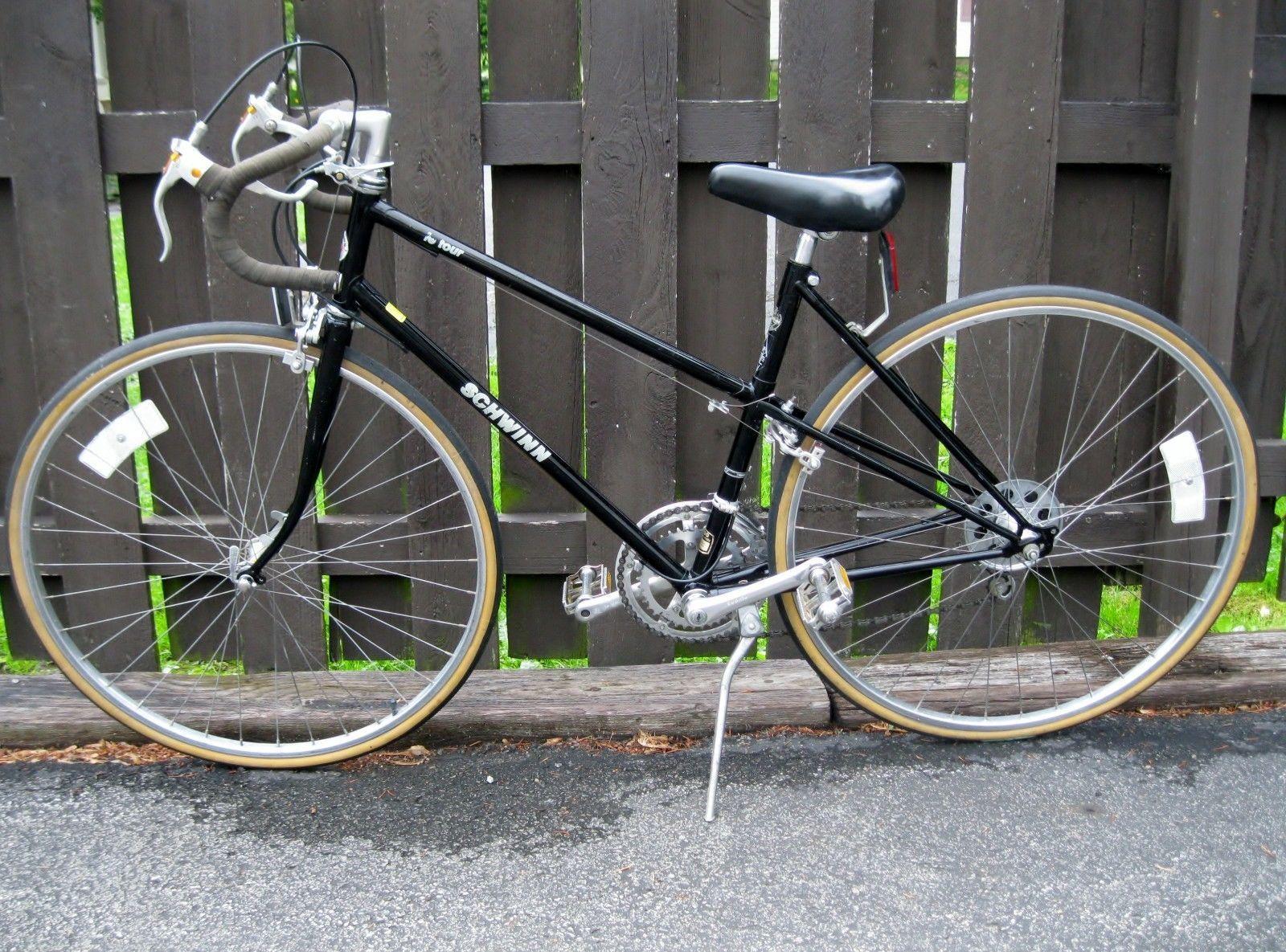"""83 Schwinn Le Tour Mixte Bicycle 19"""" 4130 Frame 12 Speed"""