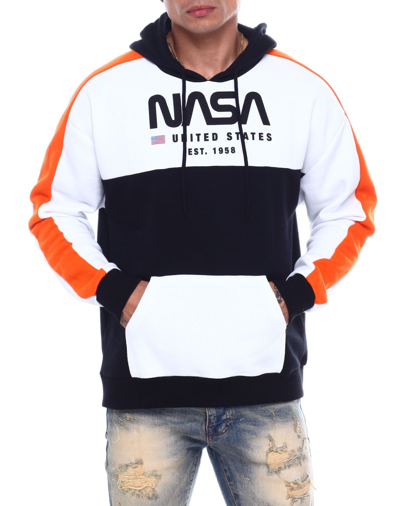 I-N-C Mens Paneled Pullover Knit Sweater
