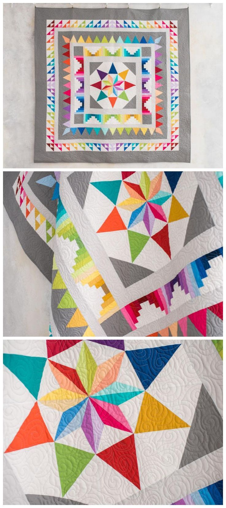 Kit Stoffe Per Patchwork.Frequency Quilt Kit By Craftsy Featuring Bright And Modern