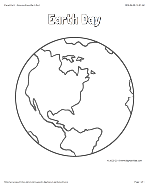 Earth Day Coloring Page With A Picture Of The Planet Earth To Color Earth Coloring Pages Earth Day Coloring Pages Earth Sun And Moon