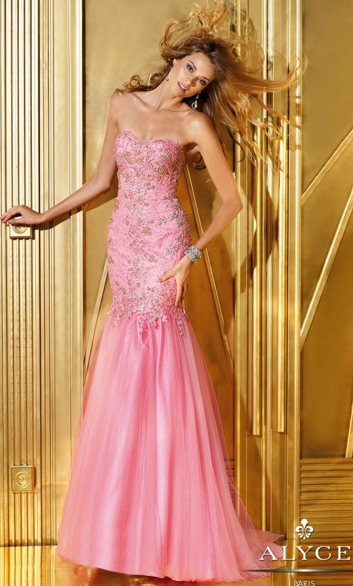 Prom Dress<BR>Evening Dress by ALYCE PARIS<BR>6242<BR>Strapless ...