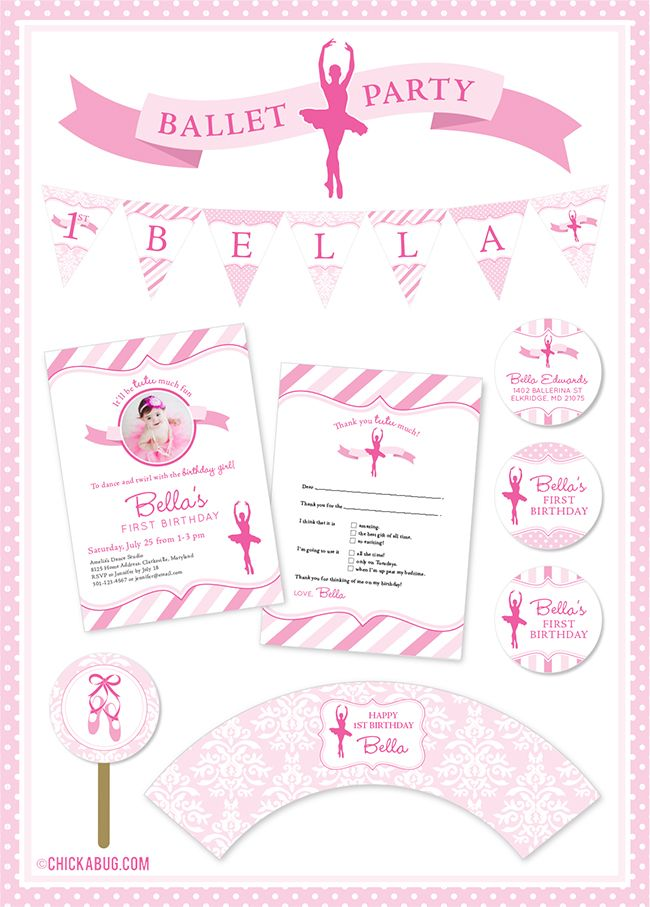New in the shop: Ballet theme birthday party | DIY party, Party ...