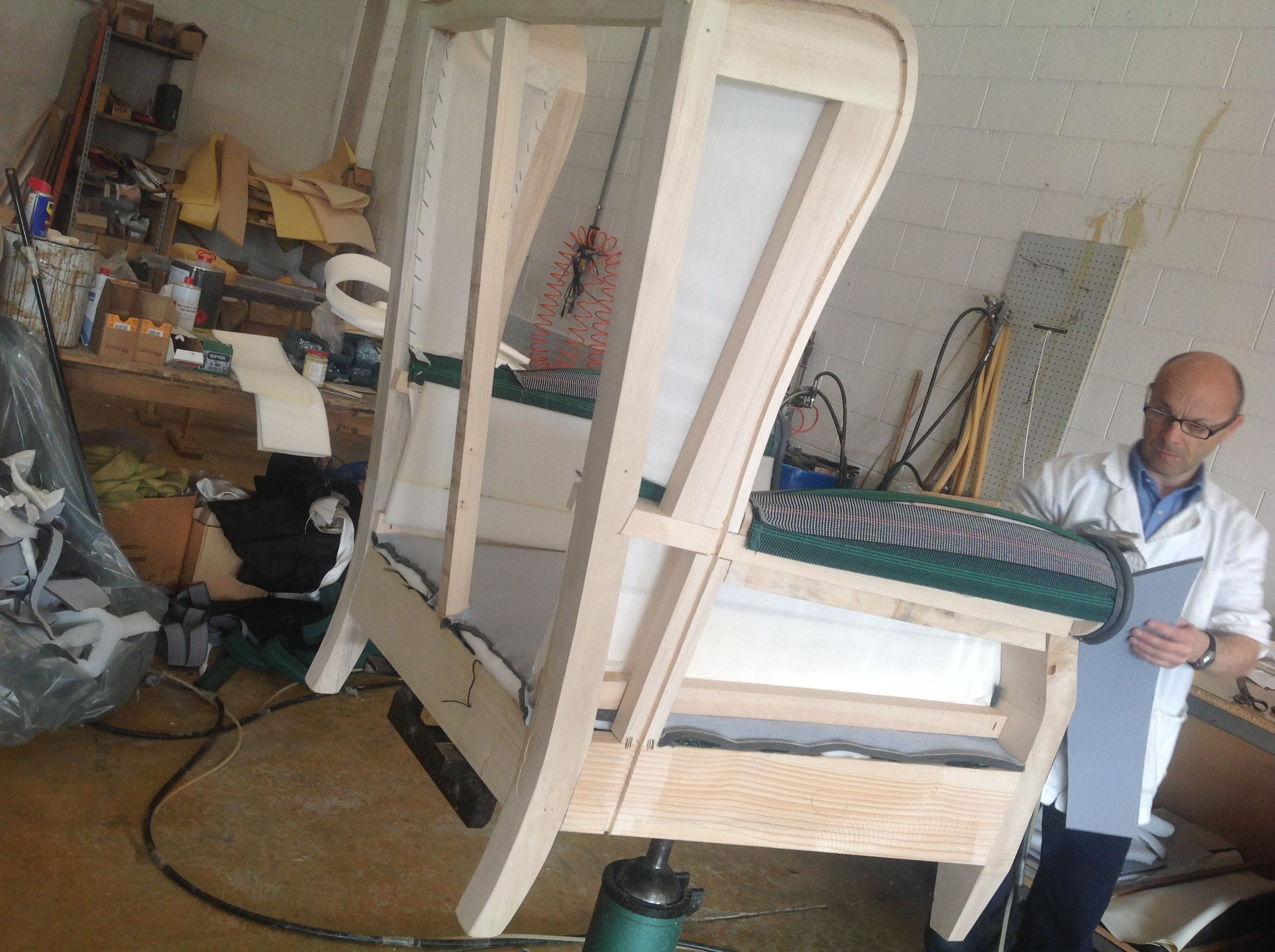 Imbottitura sedie ~ Imbottitura fusto poltrona bergère ciò che fa la differenza e nel