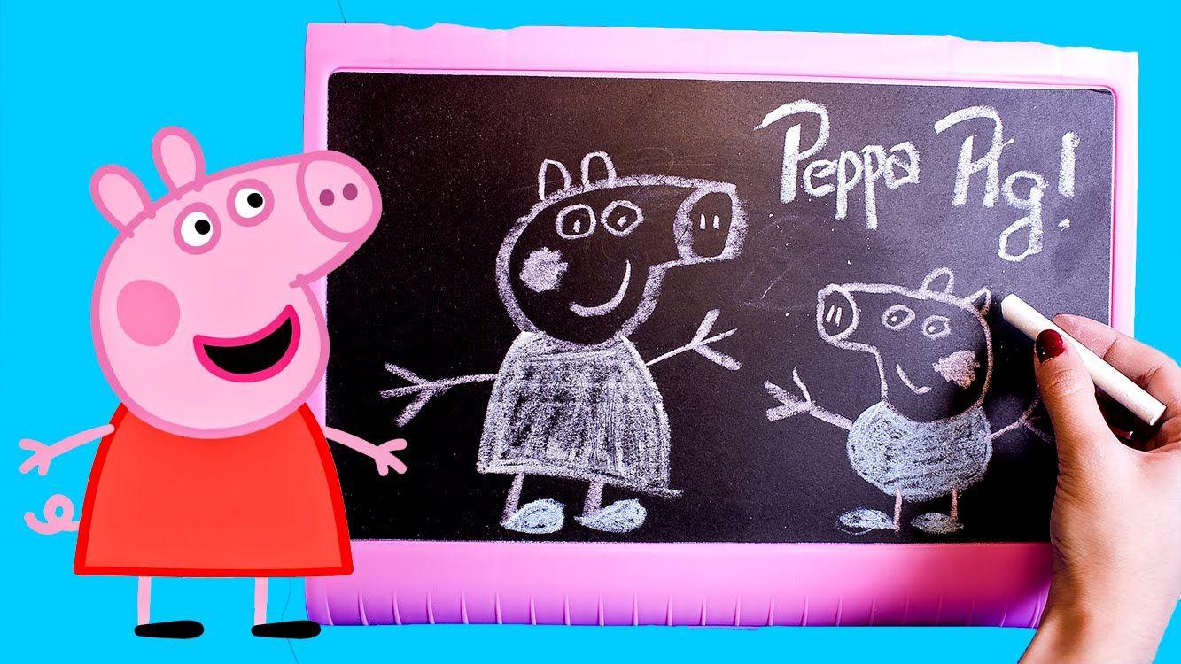 DIY Peppa Pig Table Top Easel Chalkboard DIY Coloring Drawing Peppa ...