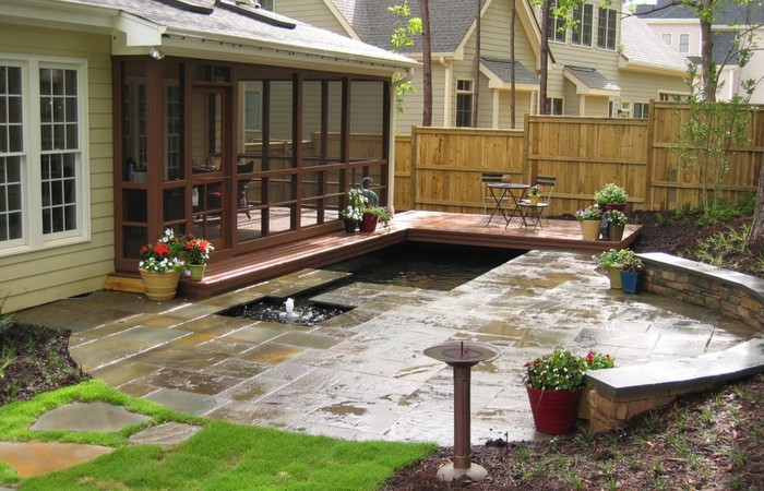 Recognizealeader Com By Black Color Page 3024 In 2020 Patio Pond Courtyard Design Concrete Patio