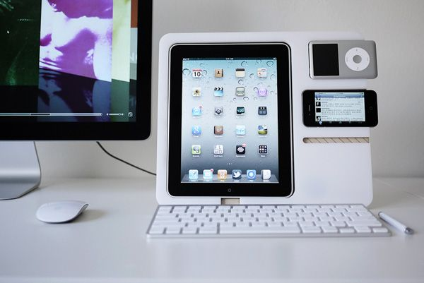 "The iEveryting Stand    iMac – check; iPhone – check; iPad – check; iPod – check; looks like anything prefixed with an ""i"" has found its way to my desk and to organize them is thePolyply. Technically Andrew Kim should be calling it the iPoly, but never mind! The stand holds iEverything in a manner that makes it easy to charge and orient as secondary (and subsequent) displays."