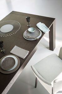 contemporary dining table / wooden / marble / lacquered wood