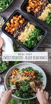 Vegan Sweet Potato and Black Bean Bowl is an easy meal prep recipe This vegan r  blog