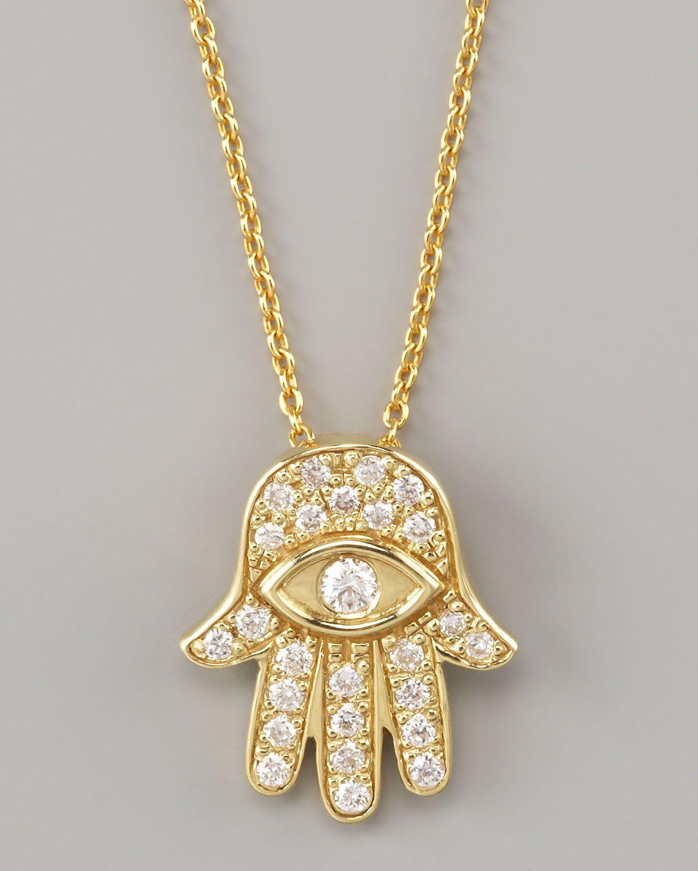 Roberto coin gold hamsa pendant necklace style pinterest roberto coin gold hamsa pendant necklace aloadofball Choice Image