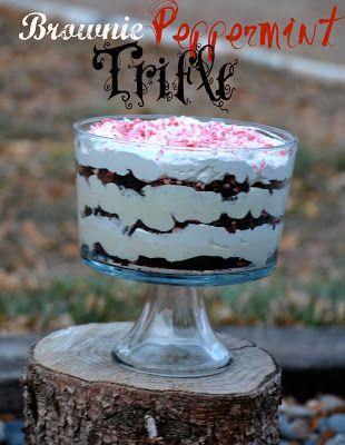 The Farm Girl Recipes: Brownie Peppermint Trifle