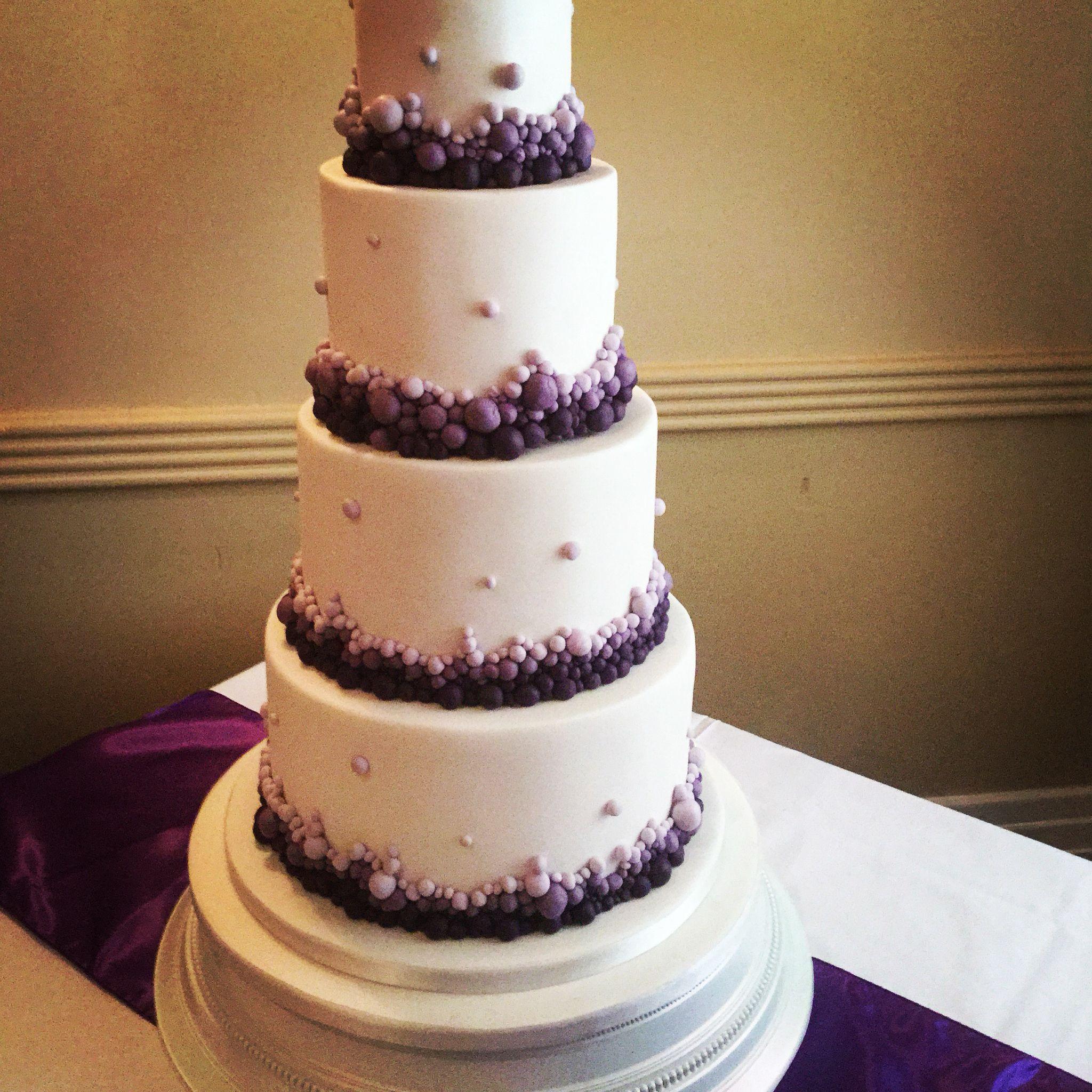 Purple Wedding Ideas With Pretty Details: Cadbury Purple Wedding Cake Theme