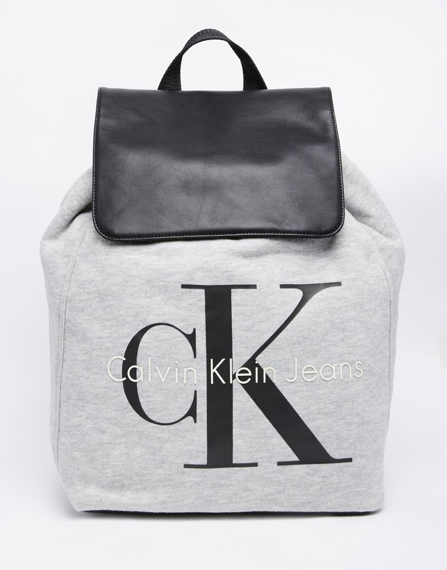 Calvin Klein Jeans Backpack in Jersey at asos.com