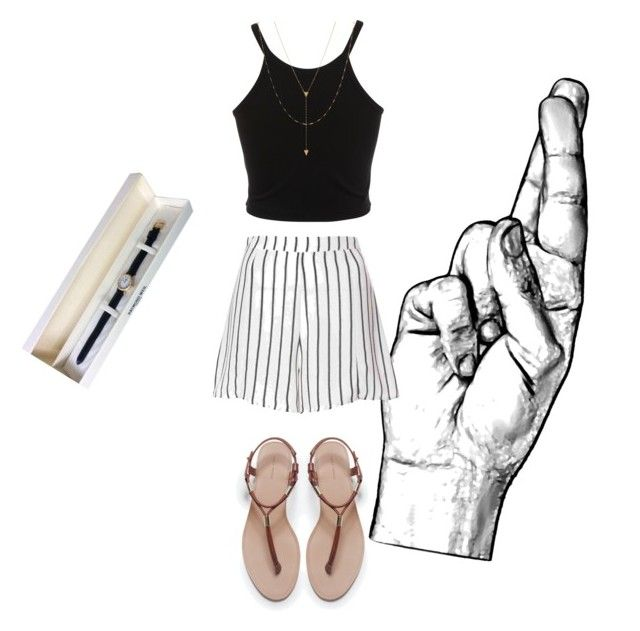 """""""Fingers crossed you get that interview"""" by keely-macdonald on Polyvore featuring Miss Selfridge, Glamorous, Zara, Raymond Weil and Jennifer Zeuner"""