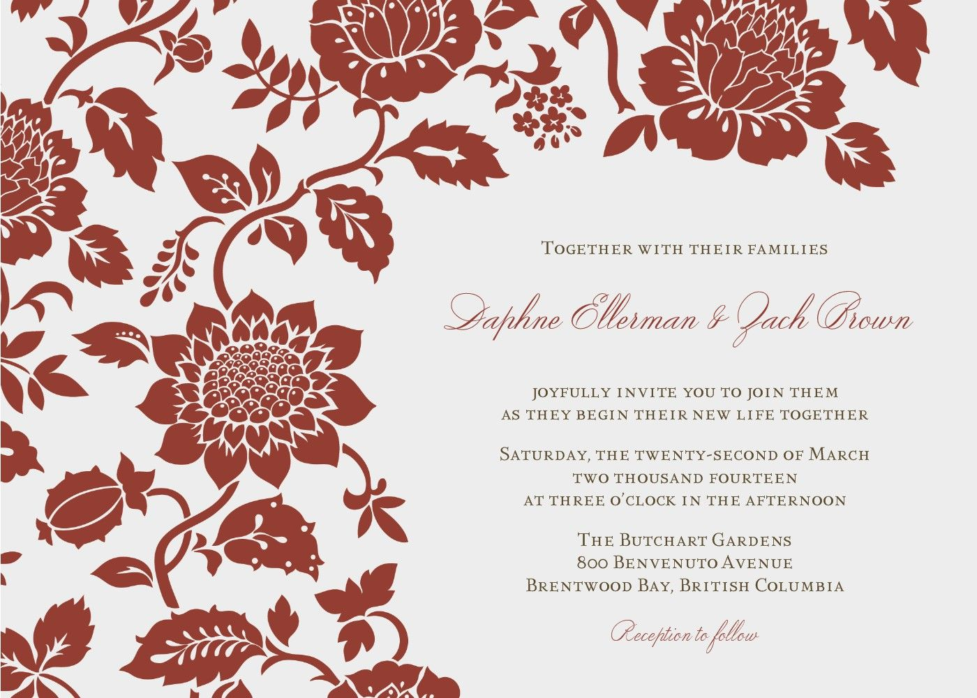 Wedding Invitation Email Template WqzWkq  The Wedding