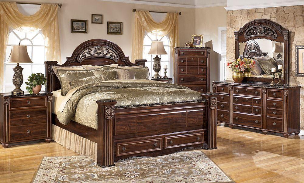 Gabriela King Storage Bedroom Set Ashley Bedroom Bedroom Sets Bedroom Furniture Sets