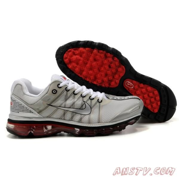Hommes Nike Air Max 2009-01 Mesh Gris Blanc Rouge - Informations Air Max  Homme