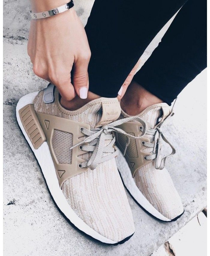 Adidas NMD XR1 Trainers In Linen Khaki | Shoes with jeans