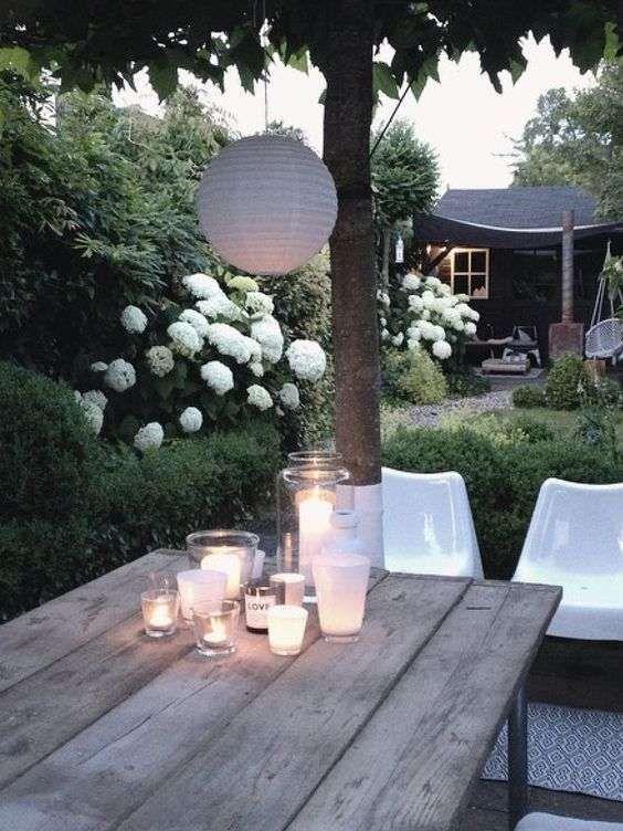 Idee per illuminare il giardino in estate candele da - Illuminare il giardino ...