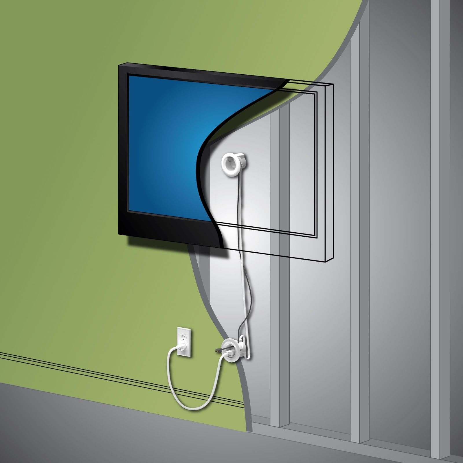 The in wall cord power kit from legrand was a fun do it yourself the in wall cord power kit from legrand was a fun do it yourself solutioingenieria Choice Image