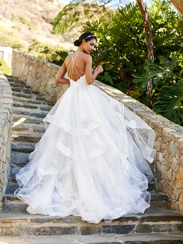 The Moonlight Collection\'s J6581B Layered Tulle Gown | Wedding ...