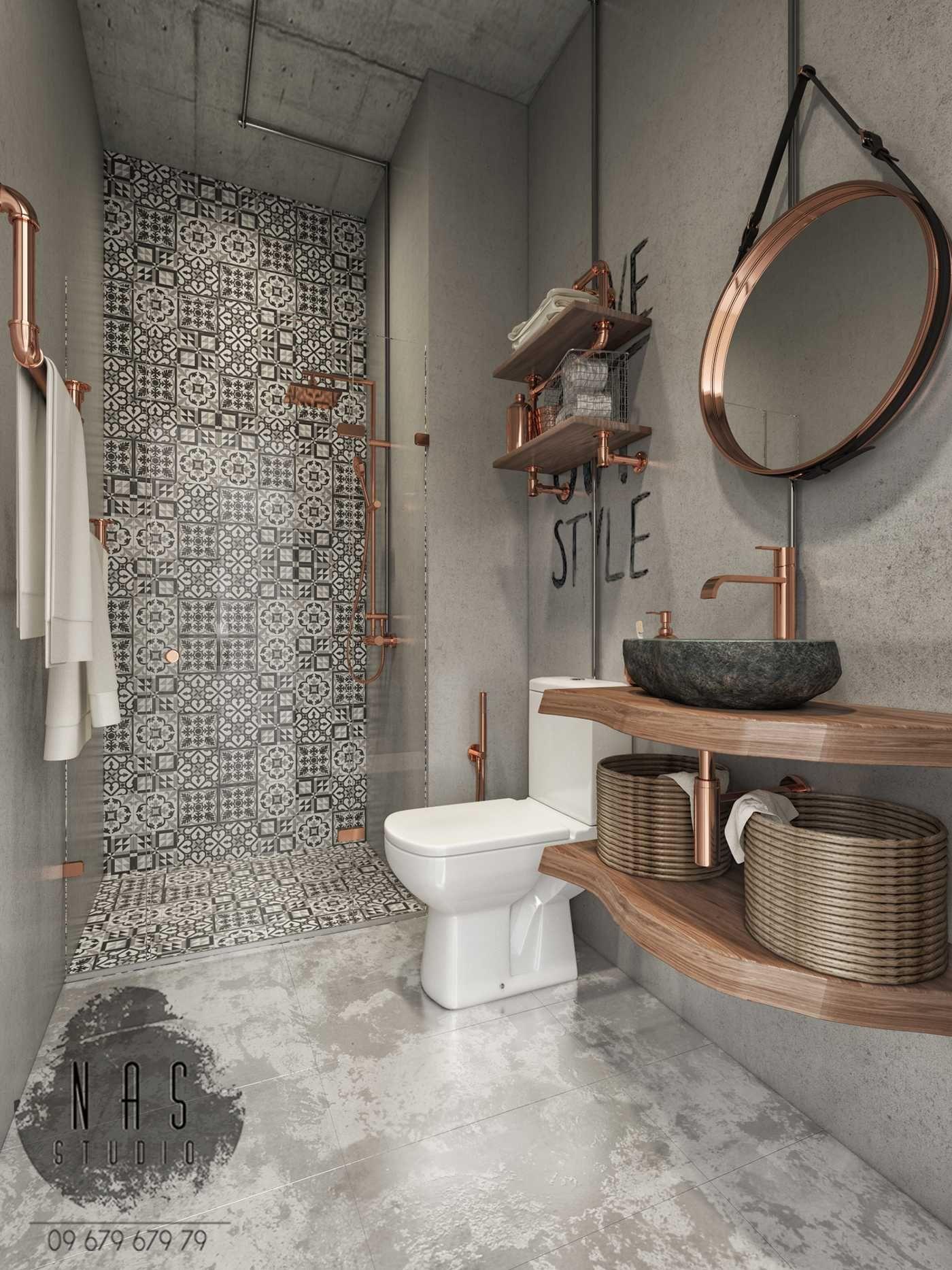 25 Modern Industrial Bathrooms Ideas Bathroom Inspiration
