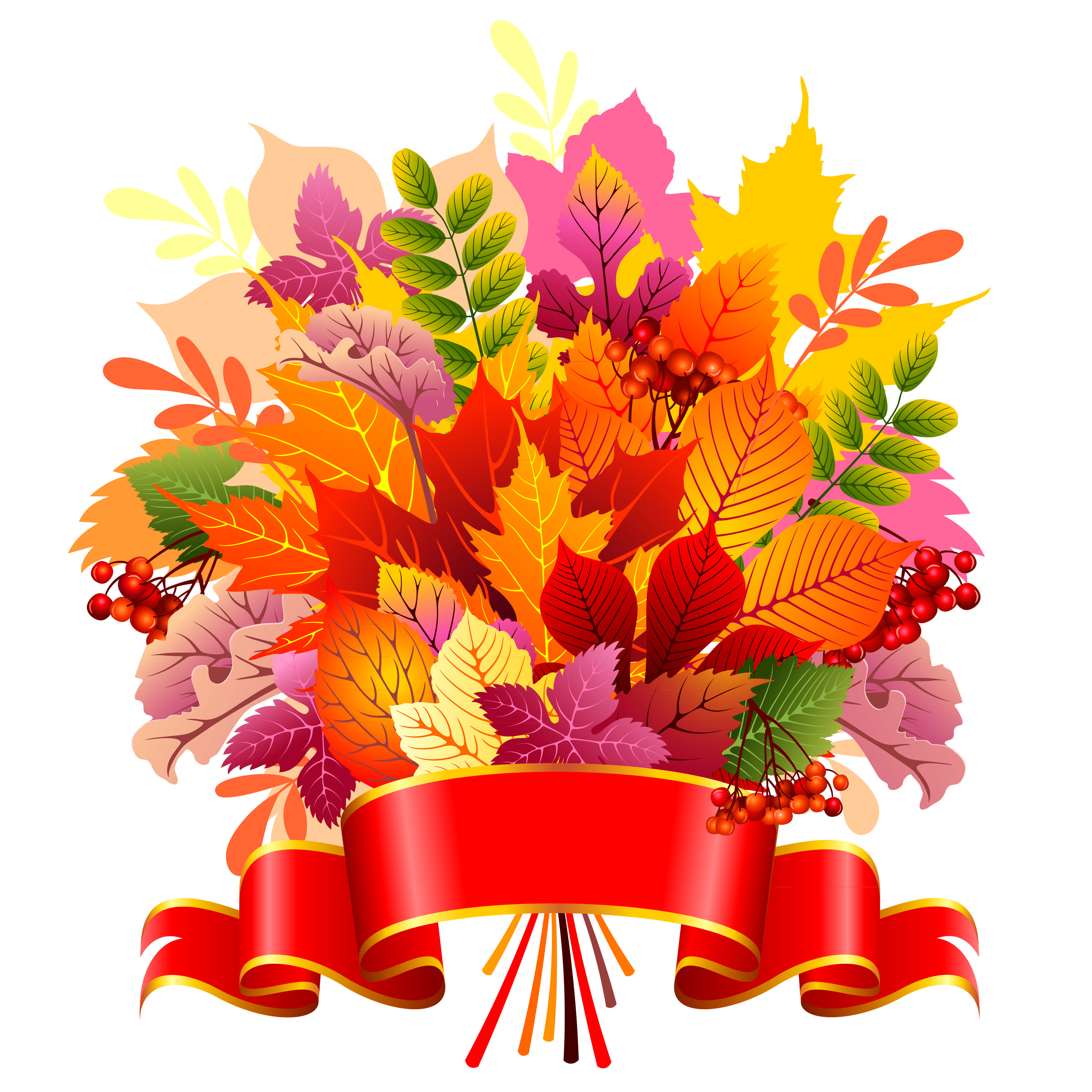free vector Beautiful autumn leaves vector graphic