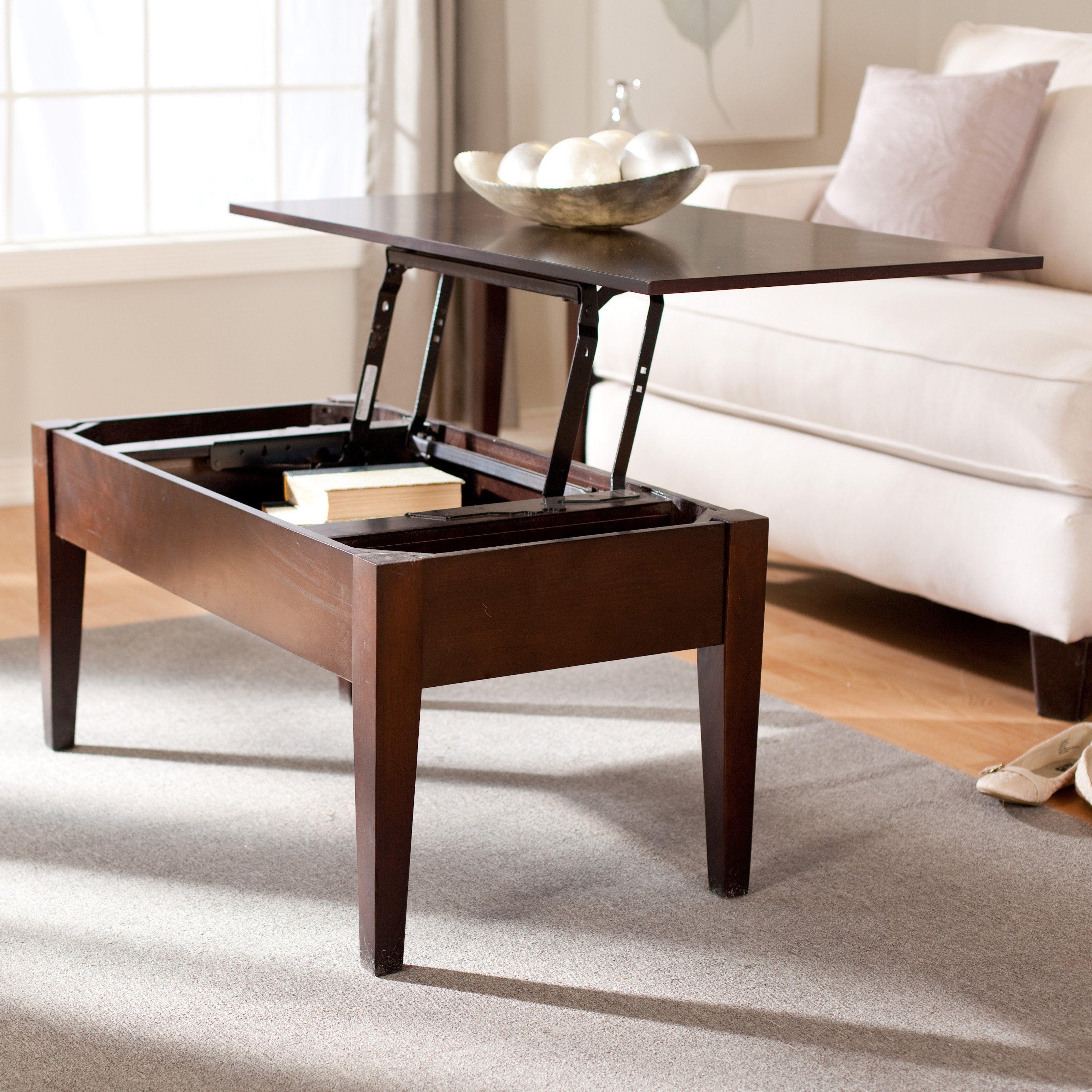 Buy Turner Lift Top Coffee Table Espresso Dimensions 40W x 22D x