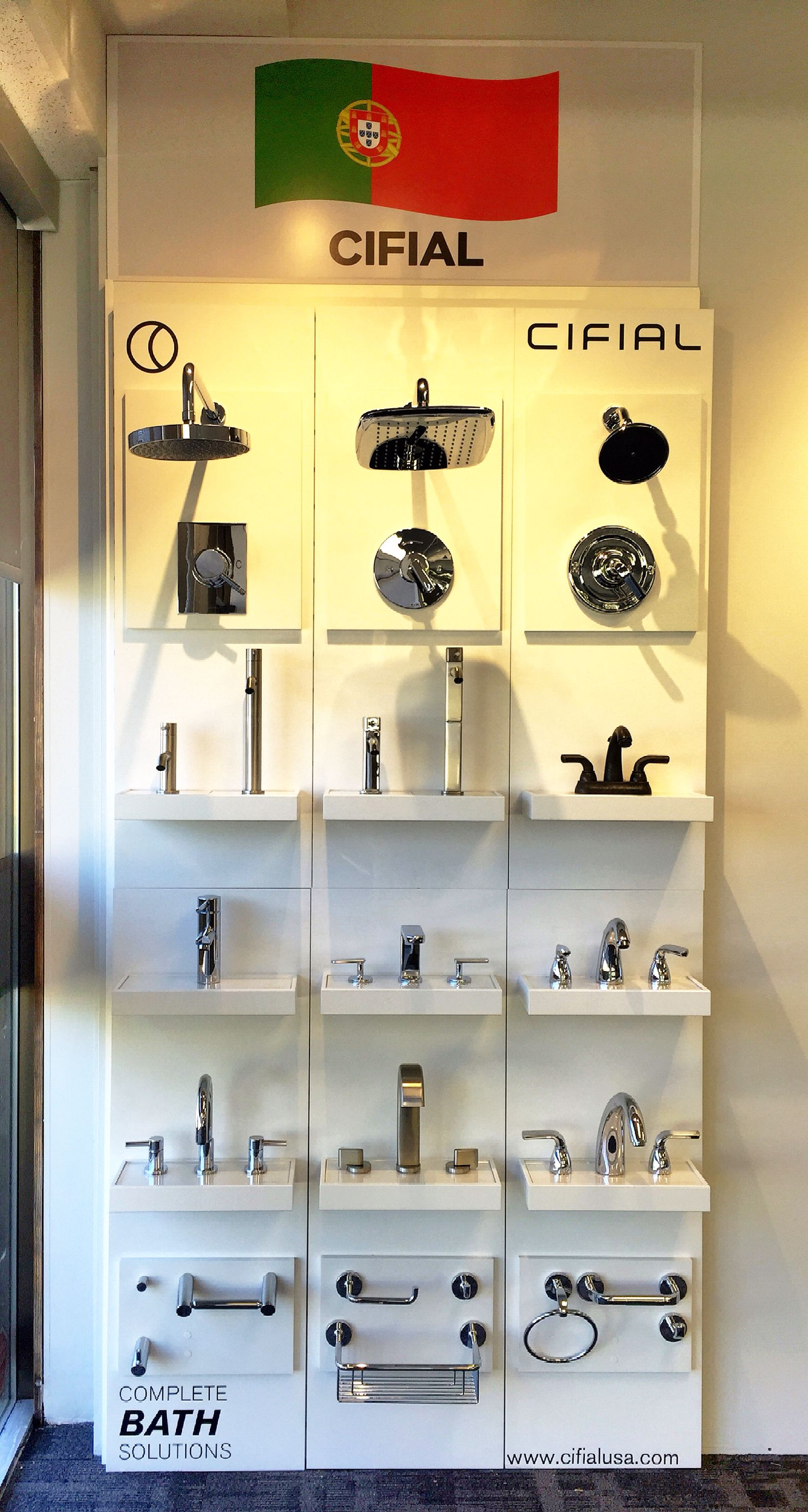 Got The #Cifial #display #faucet #boards Up On The Wall