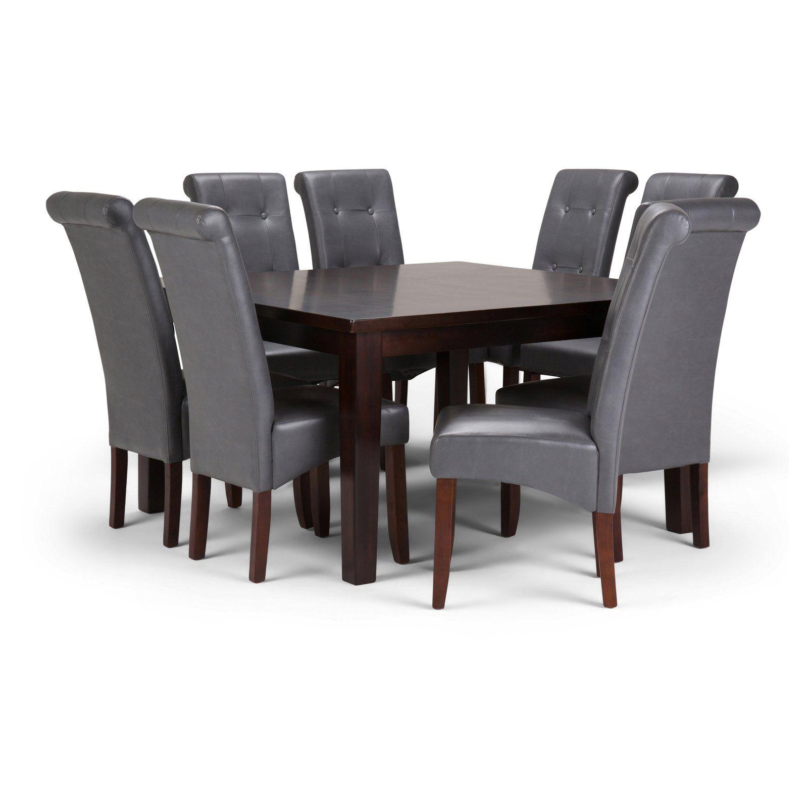 Simpli Home Cosmopolitan 9 Piece Dining Table Set In 2019 Dining